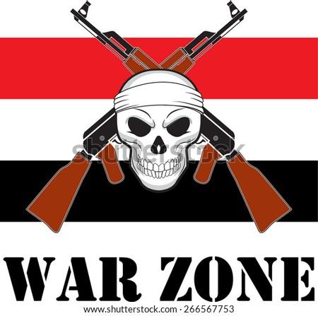 The Yemen  Military Mission, flag, or yemen conflict illustration. - stock vector