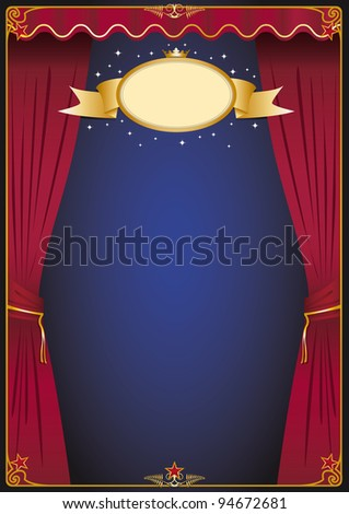 theater scene. A background for your entertainment event. - stock vector