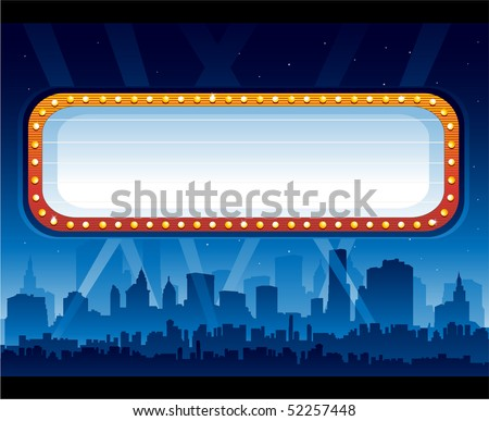 Theater sign - stock vector