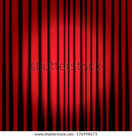 Theatre curtains - stock vector