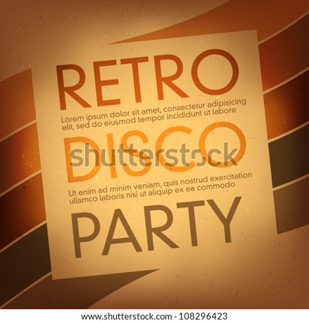 Thematic party flyer. Vector, EPS10 - stock vector