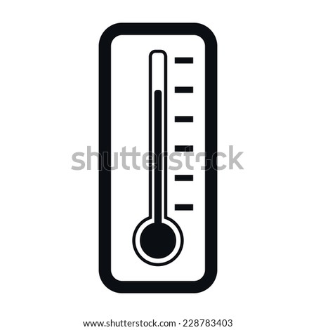 Thermometer Icon, Temperature Measurement  Concept, Vector Illustration - stock vector