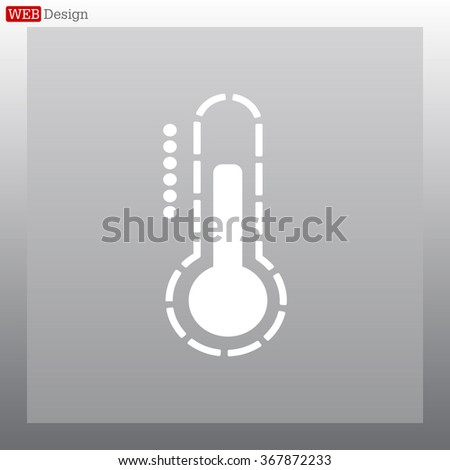 Thermometer icon , vector illustration - stock vector