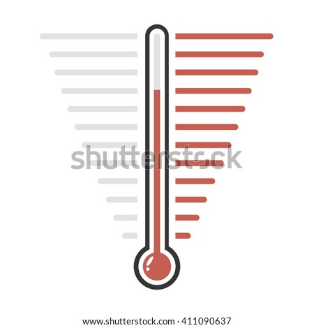 Thermometer red goal vector - stock vector