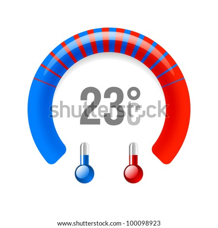 Thermometer. Vector. - stock vector