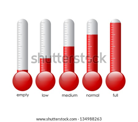 Thermometers set, vector illustration - stock vector