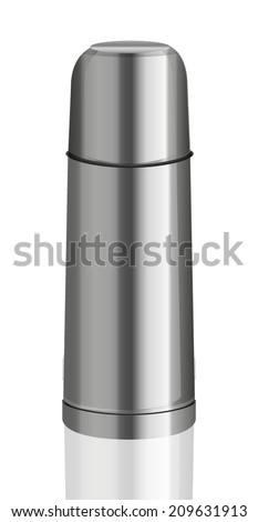 Thermos Flash Isolated on White Background - stock vector