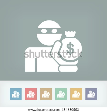 Thief icon - stock vector