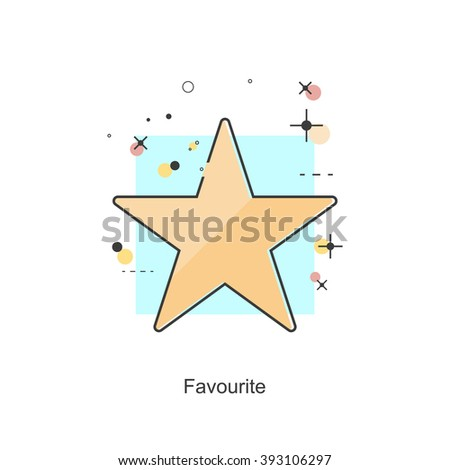 Thin Line Icon Favourite. Vector format - stock vector