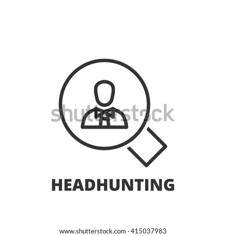 Thin line icon. Flat symbol about business. headhunting - stock vector