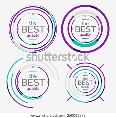 Thin line neat design logo set, clean modern concept, premium quality stamp - stock vector