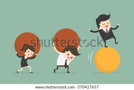 Think Different. Business Concept Cartoon Illustration. - stock vector