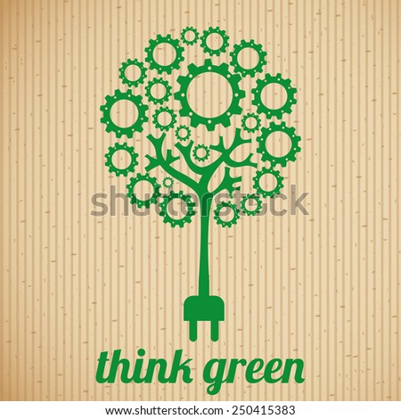 Think Green Logo Think Green Design Vector