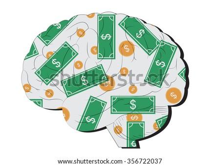 Think Money - stock vector