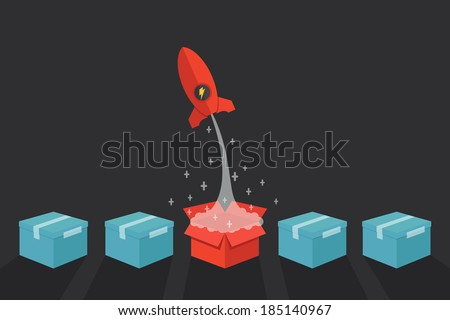 Think out of the box  - stock vector