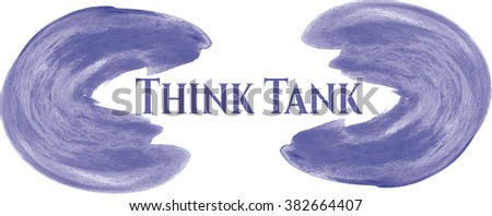 Think Tank aquarelle texture - stock vector