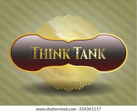 Think Tank shiny emblem - stock vector