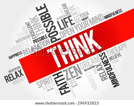 Think word cloud concept - stock vector