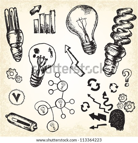 Thinking Doodles - stock vector