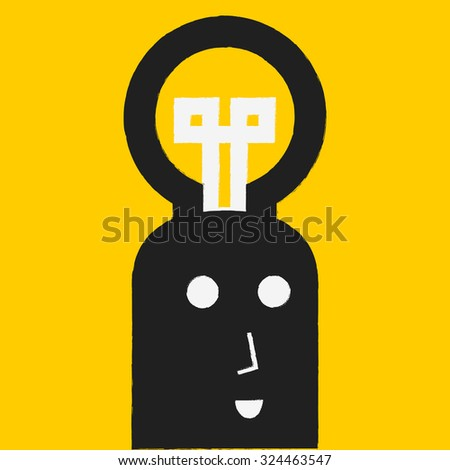 thinking idea - stock vector