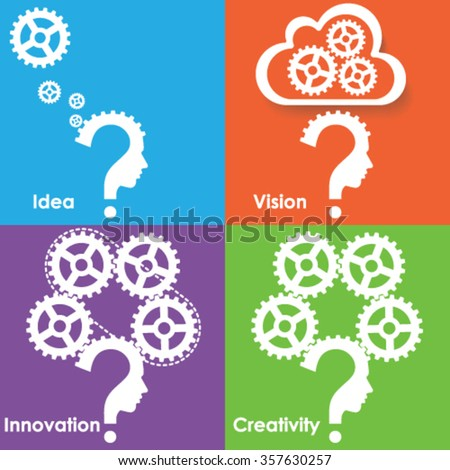 Thinking process for successful business - stock vector
