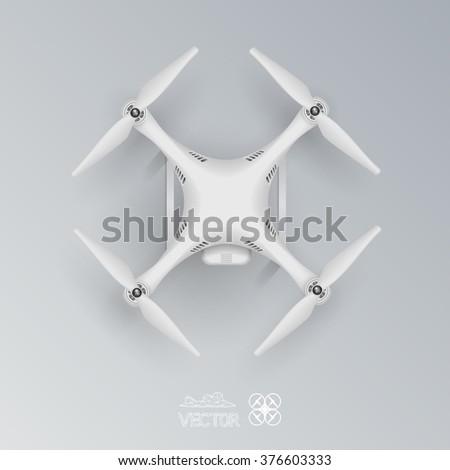 This drone quadrocopter. Vector. eps10. - stock vector