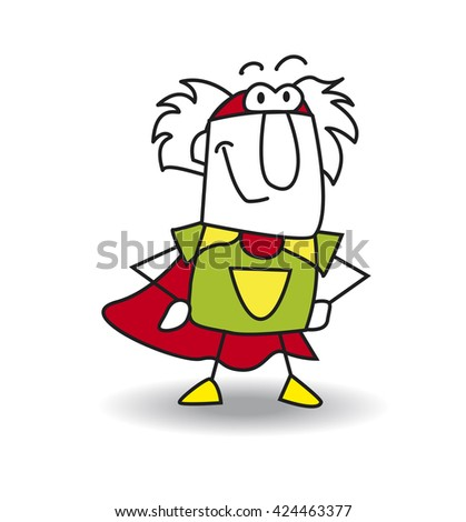 This Grandfather is a superhero. He is the best old man - stock vector