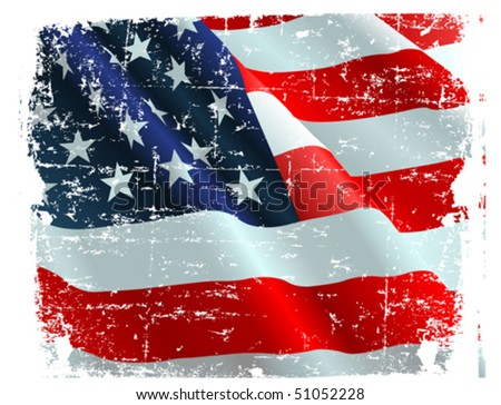 This illustration of USA flag can be used for your design. - stock vector