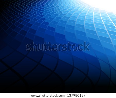 This image is a vector file representing a blue abstract background. / Blue Background / Blue Background - stock vector