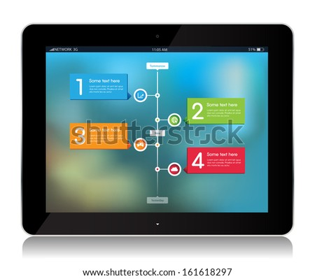 This image is a vector file representing a collection of Tablet with abstract background. / Tablet Abstract Background / Tablet Abstract Background - stock vector