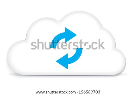 This image is a vector file representing a internet cloud backup concept. / Cloud Backup / Cloud Backup - stock vector