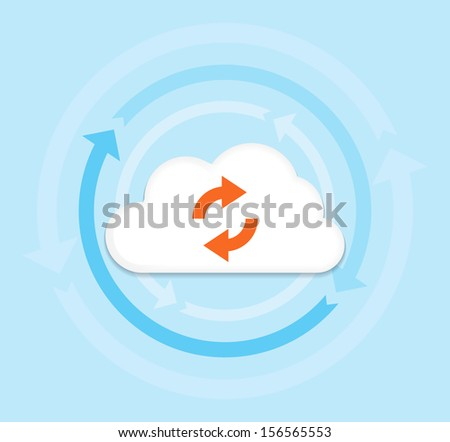 This image is a vector file representing a internet cloud computing concept. / Cloud Computing / Cloud Computing - stock vector