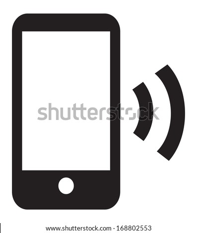 This image is a vector file representing a Smart Phone Wireless Icon App. / Smart Phone Wireless Icon App / Smart Phone Wireless Icon App - stock vector