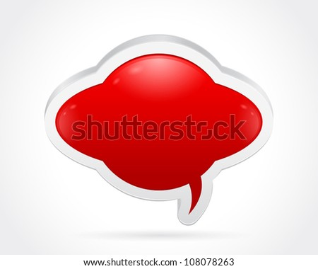 Thought bubble isolated on gray white background - stock vector