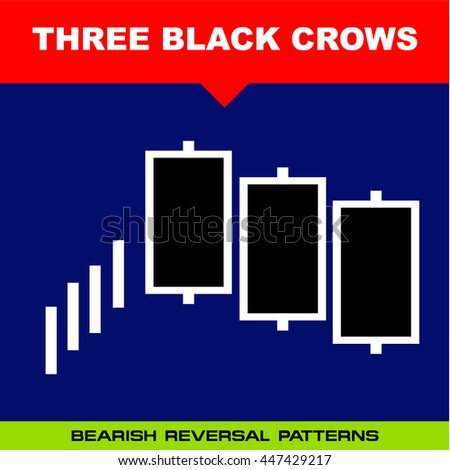 Three black crows stock pattern