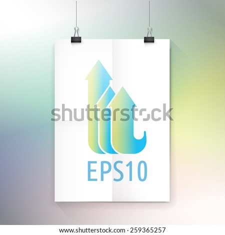 Three Colorful Arrows In Blue ans Yellow Gradient Color Concept - stock vector