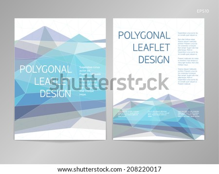 Leaflet template stock photos images pictures for One sided brochure template