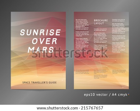 planet brochure template - stock images similar to id 216432040 abstract triangle