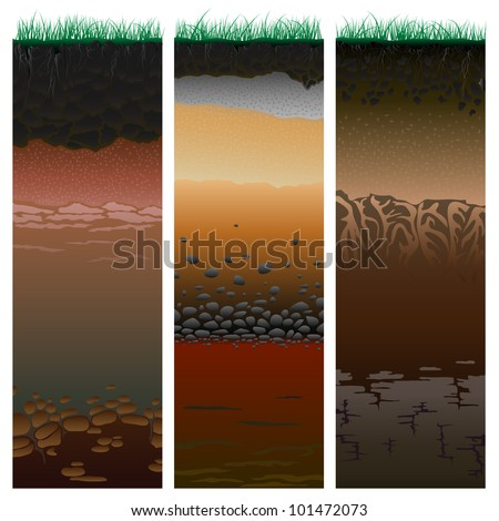 Earth layers stock photos images pictures shutterstock for Earth soil layers