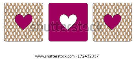 Three creative boxes with hearts  - stock vector
