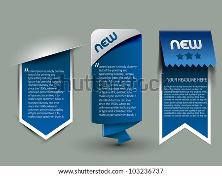 three different web style banner elements design. - stock vector