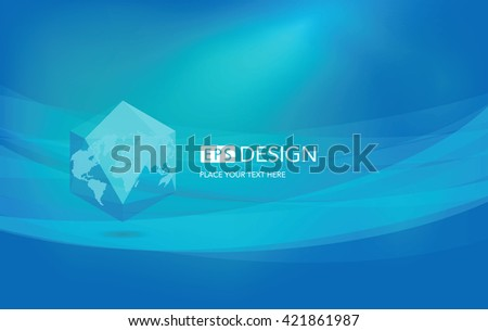 Three-dimensional abstract planet, representing the global, international meaning. Abstract light vector background - stock vector