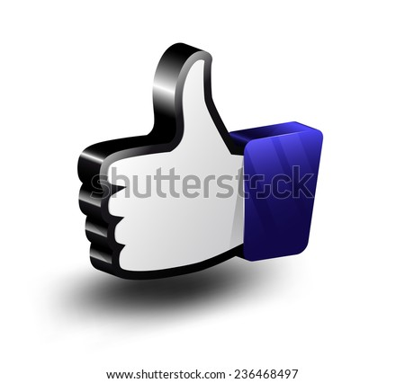 Three-dimensional like icon - stock vector