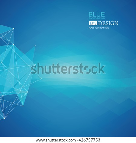 Three-dimensional planet, dots, representing the global, international meaning, blue background. - stock vector