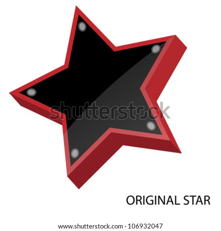Three dimensional star - stock vector