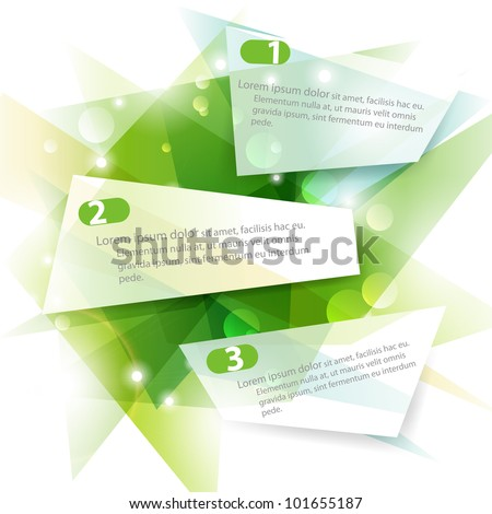 Three green vector banners - stock vector