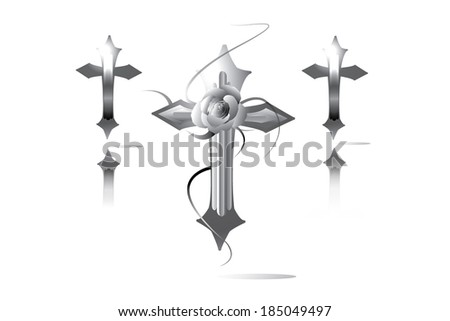 Three holy crosses design - stock vector