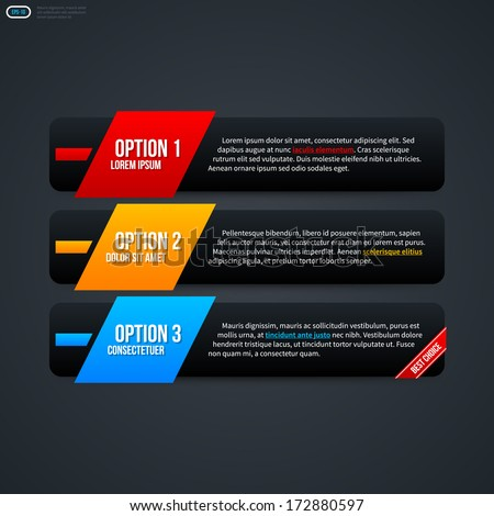 Three horizontal banners for web design. EPS 10 - stock vector