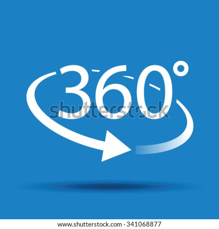 three hundred and sixty degree abstract icon - stock vector