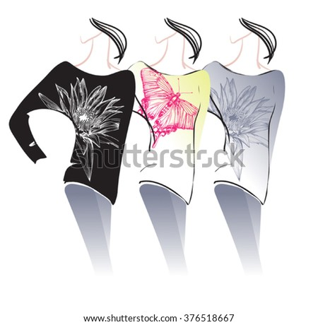 Three kinds of  women's sweaters with 